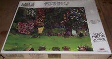 SUPERB CASTLE FINE ART ADVENTURES IN A FLOWER GARDEN 1000PC J BITHELL SEALED MIB