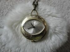 Pendant Wind Up Watch Vintage Swiss Made Heritage Necklace