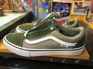 Vans Old Skool Pro Forest White Canvas Suede Size US 11 Men New No Box Lid