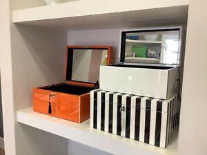 Gift Company Schmuckbox, Tang, mit Spiegel und Schloss in schwarz/weiß