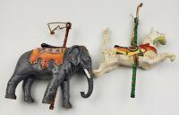 Kurt Adler Elephant & Cat Carousel Animal Ornament Smithsonian Vintage 1988