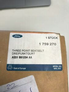 GENUINE FORD BELT AND BUCKLE ASSEMBLY SET - 1569504