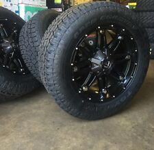 """20"""" Fuel D531 Hostage Black Wheels 33"""" Toyo AT2 Tire Package 6x5.5 Chevy GMC"""