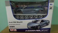Metal Kit 1 24 Scale - AUDI R8 Spyder in Metallis Light Blue
