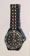 Mens Heuer 1000 Pre Tag Watch 980.029L Black Swiss Professional Diver 200 Meters