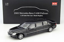 Mercedes-Benz Pullman S-Klasse Baujahr 2000 schwarz 1:18 SunStar