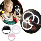 Nice Selfie LED Ring Flash Fill Light Clip Camera For iPhone Mobile Phone