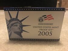 2005 United States Mint Proof Set Original Government Packaging Box & COA