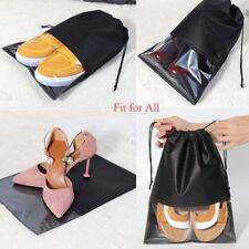 10x Portable Travel Shoe Bag View Window Pouch Storage Organizer Drawstring Bags