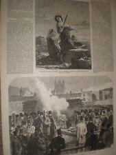 Mr Gale's experiment for making gunpowder inert at Westminster 1865 print ref C
