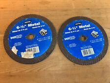 """Pair Norton 9405 Metal Cutting Blade  6-1/2"""" x 1/8""""  for Circular Saw -FREE SHIP"""