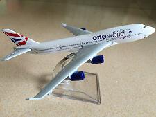 One World BRITISH AIRWAYS B747 400 Passenger Airplan Plane Metal Diecast Model C