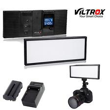Viltrox 132 LED Slim LCD Bi-Color Dimmable Video Light +battery+charger for DSLR