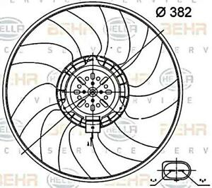 Hella Radiator Fan For AUDI A6 Allroad Avant A7 Sportback Q3 8EW351000-474