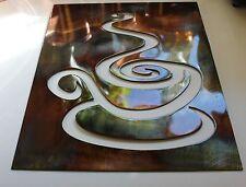 Coffee Metal Wall Art Plaque Copper/Bronze  Metal Wall Art Hanging