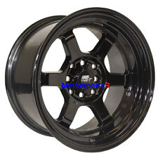 MST Wheels Time Attack Rims 15 x 8 +0 Black 4x4.5 85 87 Toyota Corolla GTS AE86