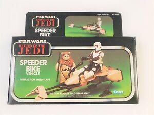 Vintage Star Wars ROTJ  SPEEDER BIKE Vehicle 1983 Kenner - Great Carton