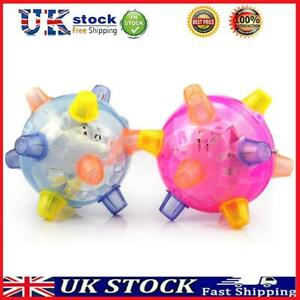 Jumping Activation Ball for Dogs - Music LED Bouncing Pet Ball Toys, Random T#K