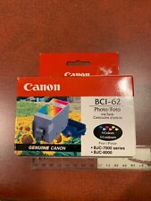 Canon BCI-62 Photo Ink Tank 6 Colors BJC-7000 Series NEW UNKNOWN AGE FREE SHIP