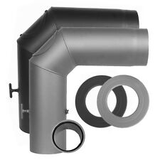 Ofenrohr �˜ 150 mm Schwarz o. Grau Kaminrohr Wandfutter Rosette Winkel Rauchrohr