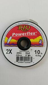 """RIO """" Powetflex """" 2X  .009in  10lb   30yd spool Leader  LIQUIDATION"""