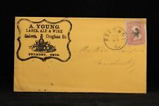 Ohio: Fremont 1860s #65 A. Young Lager Beer, Ale & Wine Saloon Advertising Cover
