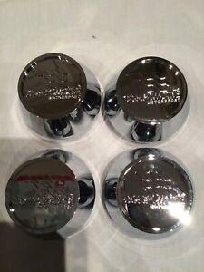 4x 65 mm si adatta Sedile Ruota Adesivi Badge Centro Centro Trim CAP HUB IN LEGA ROSSO