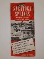 SARATOGA SPRINGS NY 1940s 1950s BROCHURE tourist Vintage