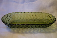 Vintage Indiana Glass Green Relish Dish