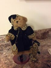 """New listing Retired Plush Boyds Bear– """"Bailey & leopard cat� 20th Annv. Collection-1979-1999"""