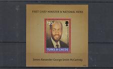 Turks & Caicos Islands 2014 MNH First Chief Minister James McCartney 1v S/S Hero