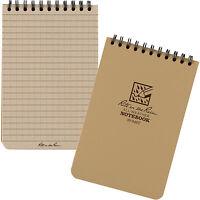 "Rite In The Rain 6""x 4"" Waterproof Tactical Pocket Notepad 50 Sheets  TAN No946T"