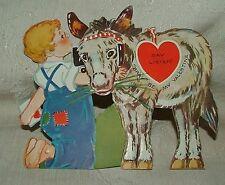 Large 1930s Moveable Stand Up Valentine Donkey Bray Be My Valentine