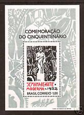 Brazil Sc 1222 MNH. 1972 1cr Modern Art Week Souvenir Sheet, scarce, VF