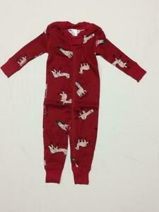 Hanna Andersson baby boy coverall sleepsuit 6 12 18 24 m 2 3 y red