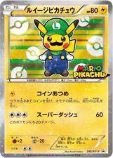 LUIGI PIKACHU 295/XY-P Ultra Rare Promo Star Holo Foil Pokemon Card 2016 COSPLAY