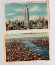 [2494] Empire State Building- East River Brooklyn Manhattan & Wiliamsburg Bridge