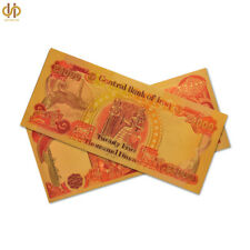 100PCS Asian Color Gold Banknote Iraq 25000 Dinar Gold Foil Note Money Banknote