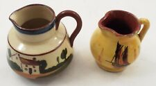 Watcombe Torquay Pottery Good Examples Best Sermons & Sailing Ship Mini Pitchers