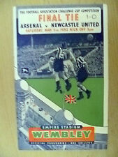More details for 1952 fa cup final official programme-arsenal v newcastle united (org*, vg)