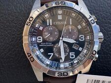 Citizen BL5551-06L Eco-Drive Titanium Quartz Brown Leather Calfskin Strap Watch