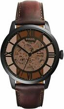 Fossil ME3098 Townsman Automatic Brown Skeleton Dial 44mm Men's Watch