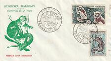 Enveloppe 1er jour : Protection de la faune : Lémuriens TANANARIVE / MALAGASY