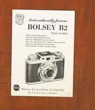 BOLSEY B2 INSTRUCTION BOOK/37917