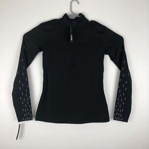 Nike Pro Hyperwarm 'Linear Rain' Printed Long Sleeve 1/2 Zip Top M Black 914586