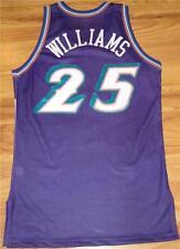 MO WILLIAMS UTAH JAZZ GAME USED WORN ROOKIE JERSEY PURPLE 2003-04 AUTHENTIC CAVS