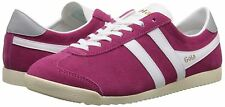Gola Bullet Suede UK 5 EU 38 Hot Fuchsia / White Retro Lace Up Sneaker Trainers