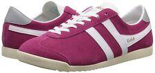 Gola Bullet Suede UK 5 EU 38 Hot Fuchsia / White Retro Lace Up Sneaker Trainers