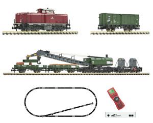 Fleischmann 931899 z21start Digital-Set Bauzug mit Diesellok BR 212, DCC, N