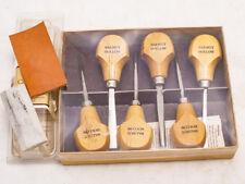 6 Pc.Walnut Hollow Carving Tool Set w/Honing Kit